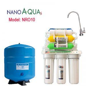 Máy lọc nước Nanoaquas 10 lõi NRO10, công nghệ lọc RO không dùng điện