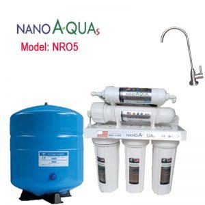 Máy lọc nước Nanoaquas 5 lõi NRO5, công nghệ lọc RO không dùng điện