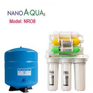 Máy lọc nước Nanoaquas 8 lõi NRO8, công nghệ lọc RO không dùng điện