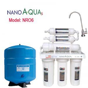 Máy lọc nước Nanoaquas 6 lõi NRO6, công nghệ lọc RO không dùng điện