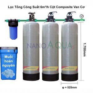Lọc Tổng 6m³/h Cột Composite Van Cơ