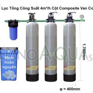 Lọc Tổng Công Suất 4m³/h Cột Composite Van Cơ