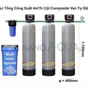 Lọc Tổng Công Suất 4m³/h Cột Composite Van Tự Động
