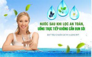 Nước sau lọc có thể uống trực tiếp