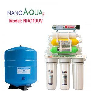 Máy lọc RO 10 lõi NRO10UV, tích hợp đèn UV