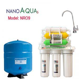 Máy lọc nước Nanoaquas 9 lõi NRO9, công nghệ lọc RO không dùng điện