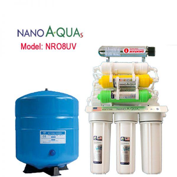 Máy lọc RO 8 lõi NRO8UV, tích hợp đèn UV
