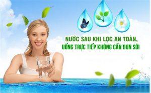 Uống nước trực tiếp