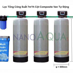 Lọc Tổng Công Suất 7m³/h Cột Composite Van Tự Động