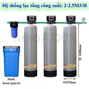 Hệ thống lọc tổng công suất 2m³ /h
